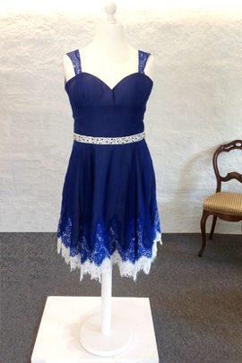 Dark blue short part dress